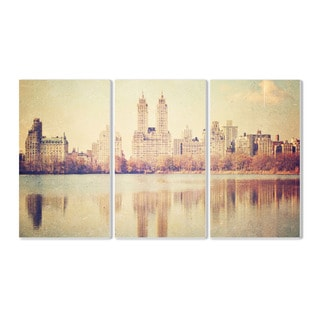 Stupell Central Park Overlook Photographic 3-piece Triptych Wall Plaque Set