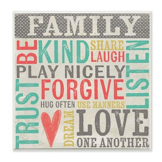 Stupell Family Inspirational Typography Art Beach Wall Plaque