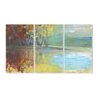 Stupell Painted Look Trees in Autumn 3-piece Triptych Wall Plaque Set