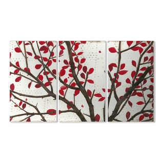 Stupell Crimson Leaves' 3-piece Triptych Wall Plaque Set