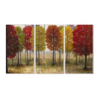 Stupell Painted Autumn Grove' 3-piece Triptych Wall Plaque Set