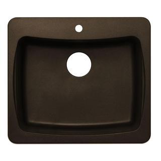 Dual Mount Granite 1-Hole Single Bowl Kitchen Sink in Metallic Chocolate