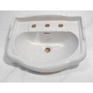English Turn Petite 6 in. Pedestal Sink Basin in White