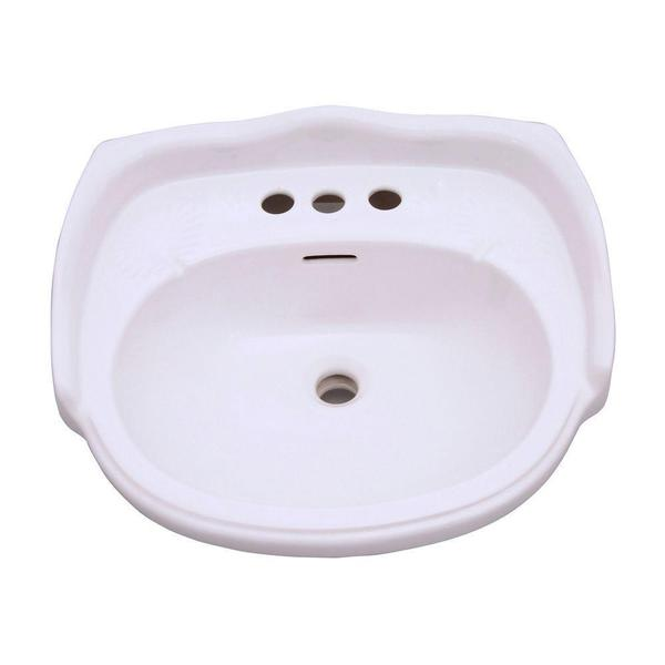 Aberdeen 21.88-inch Petite Pedestal Sink Basin Only in White - Free ...