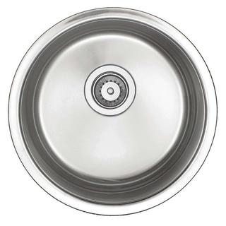 Undercounter Stainless-Steel 15.5-inch x 15.5-inch Single Bowl Round Entertainment Bar/Prep Sink