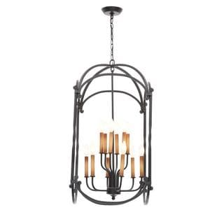 World Imports Hastings Collection 12-Light Rust Hanging Indoor/Outdoor Lantern