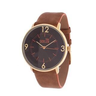 Van Sicklen Men's Antiquie Gold Case / Beige Leather Strap Watch