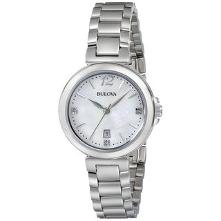 Bulova Women's 96P149 Diamond Stainless Steel Watch