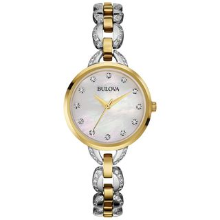 Bulova Women's 98L206 'Crystal' Two-Tone Stainless Steel Watch