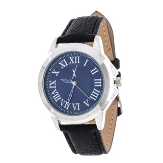 Xtreme Men's Silver Case and Blue Dial / Black Leather Strap Watch