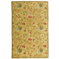 Hand-tufted Antique Gold/ Gold Wool Rug (5' x 8') - 5' x 8'