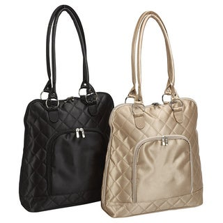 Goodhope Quilted Vertical Classic 15-inch Laptop Tote Bag