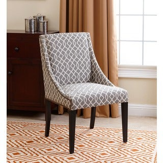 ABBYSON LIVING Sara Swoop Dining Chair, Grey Swirls