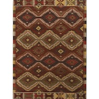 Miramar Traditional Design Orange Flat-Weave Rug - 2' x 3'