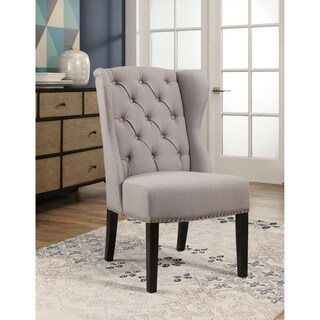 Abbyson Sierra Tufted Fabric Wingback Dining Chair (4 options available)