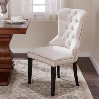 Abbyson Versailles Tufted Velvet Dining Chair (Option: Ivory)