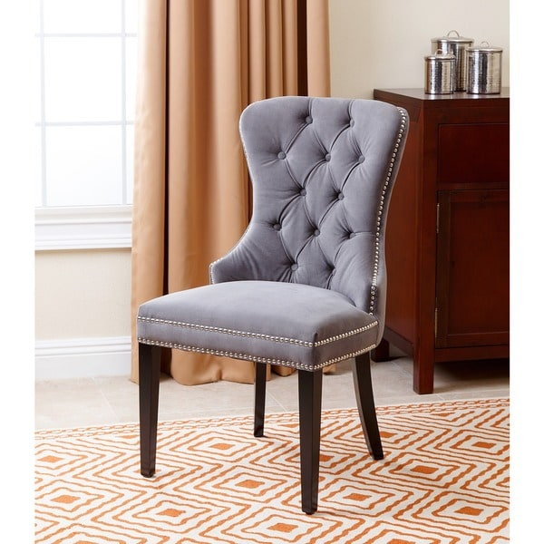abbyson versailles tufted dining chair grey free shipping today