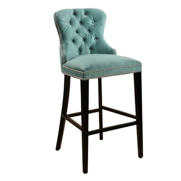 Peachy Shop Abbyson Versailles 30 Inch Tufted Velvet Barstool On Cjindustries Chair Design For Home Cjindustriesco