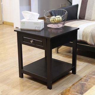Adeco Accent Drawer End Table