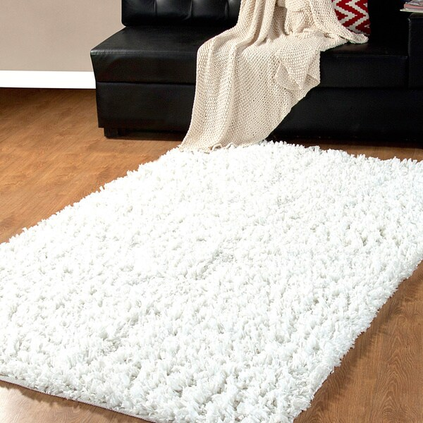 Affinity Home Collection Fancy Yarns Handmade Cozy Shag Rug (5' x 8')