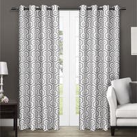 ATI Home Trike Geometric Thermal Curtain Panel Pair with Grommet Top