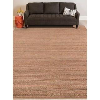 Saratoga Modern Design Pink Flat-Weave Rug (8' x 10')