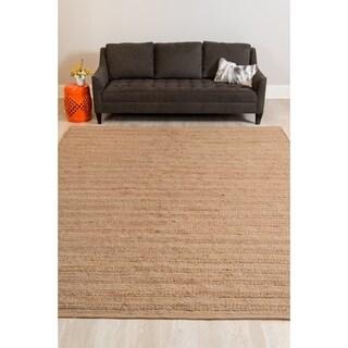 Saratoga Modern Design Brown Flat-Weave Rug (5' x 8')