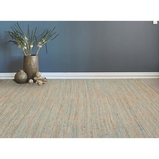 Saratoga Modern Design Blue Flat-Weave Rug (5' x 8')