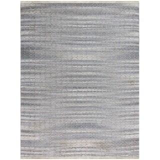 Pescadero Sky Blue Flat-weave Rug (8' x 10')