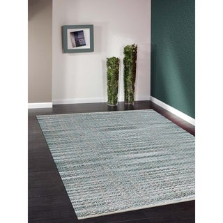 Pescadero Aqua Flat-weave Rug (8' x 10')