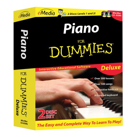 Piano For Dummies Deluxe 2 CD-ROM Set