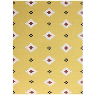 Sonora Yellow Flat-weave Rug (2' x 3')