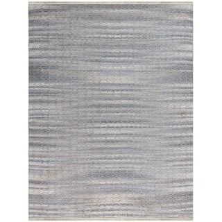 Pescadero Sky Blue Flat-weave Rug (3' x 5')