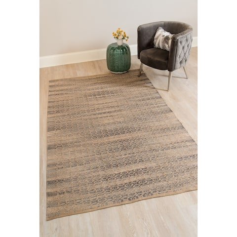 Pescadero Beige Flat-weave Rectangle Rug - 3' x 5'/Surplus
