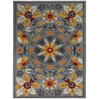 San Mateo Grey Multi-purpose Rug (7'6' x 9'6')