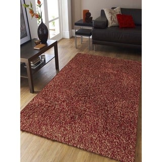 Confeiti Red Shag Rug (8' x 11')
