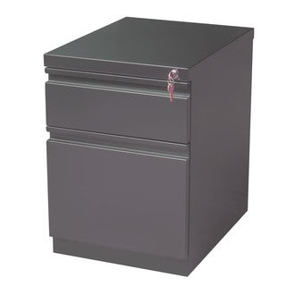 20-inch Charcoal Mobile Pedestal Filing Cabinet
