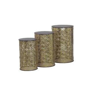 Powell 3-piece Nemesis Round Metal Nesting Tables