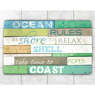 Rules of the Ocean Accent Rug (4' x 6')