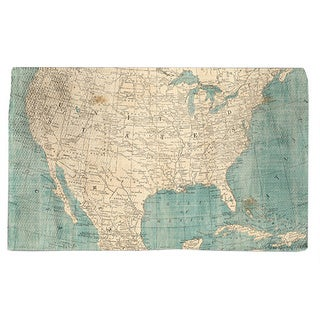 Map of North America Accent Rug (4' x 6')