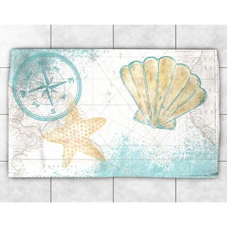 Nautical Watercolor Accent Rug - 4' x 6'
