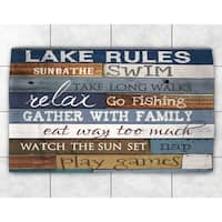 Rules of the Lake Accent Rug (4' x 6')