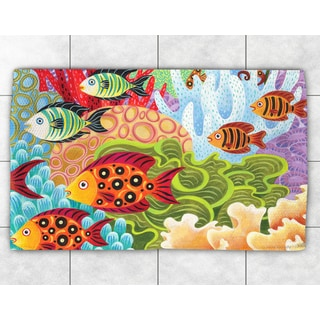 Colorful Fish Accent Rug (4' x 6')