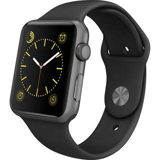 Apple Watch Sport Smartwatch (42mm, Space Gray Aluminum, Black Band)