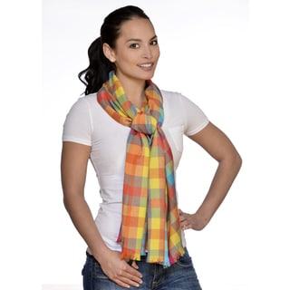 Multicolor Checkered Oblong Scarf