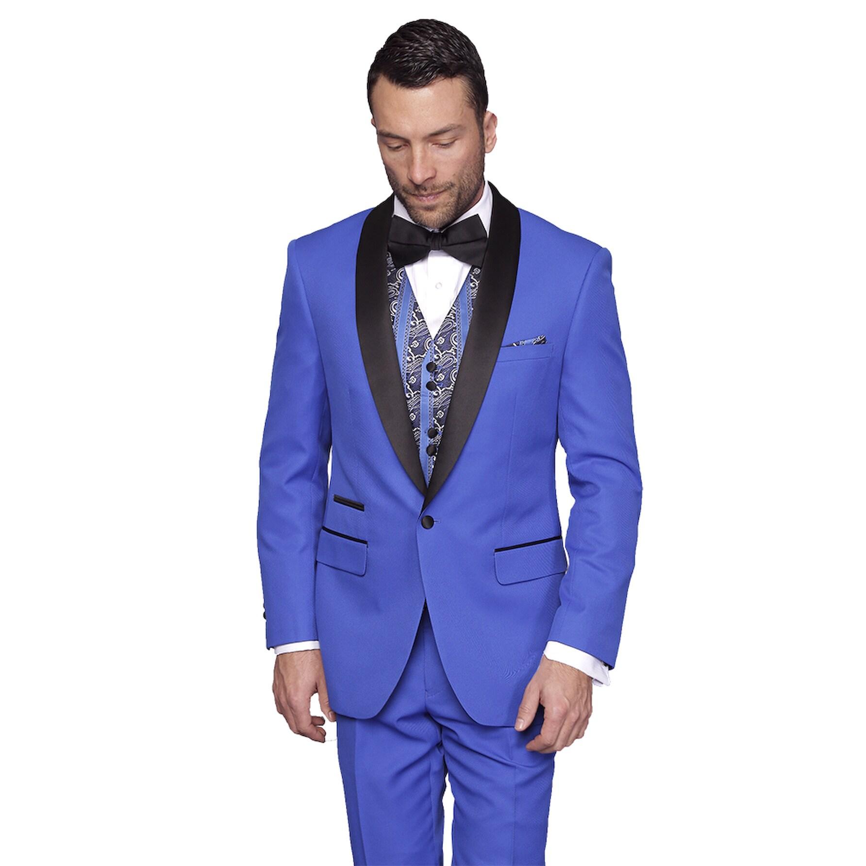 Statement Men's Capri Royal Tuxedo Suit (44L), Royal Blue...