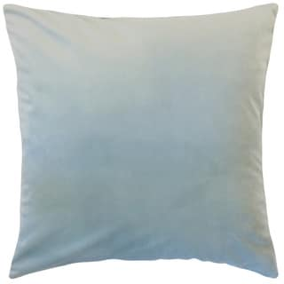 Nizar Solid Sky Blue 18-inch Feather and Down Filled Throw Pillow