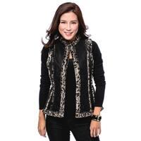 Women's Faux Fur Trim Vest