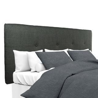 MJL Furniture Ali Button-tufted Allure Charcoal Upholstered Headboard