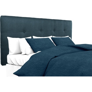 MJL Furniture Ali Button Tufted Obsession Navy Upholstered Headboard